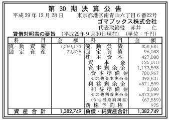 ゴマブックス_官報20171228