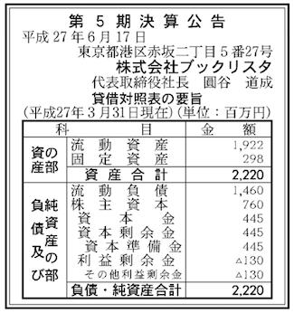 2015決算公告ブックリスタ